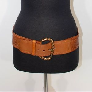 Linea Pelle Brown Leather Belt